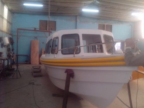 lancha cabinada paseos pesca turismo 8.35 mts nueva a medida