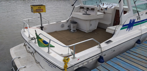 lancha cabrasmar 26 pés turbo diesel cabinada ano 1980 ocean