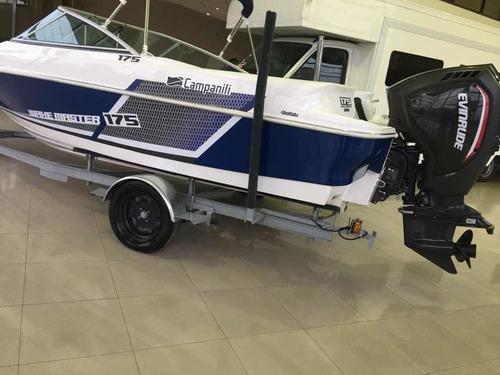 lancha campanilli 175 evinrude 115hp g2 ho con trailer