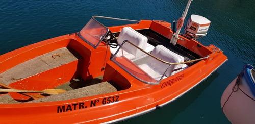 lancha canestrari open motor johnson 140 hp modelo '80