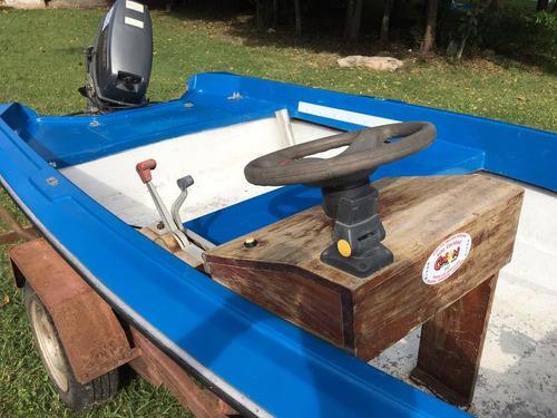 lancha caribe motor zuzuki 30hp trailer