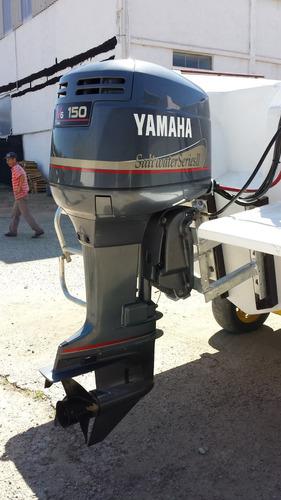 lancha cimitarra 25 pés + motor yamaha 150hp