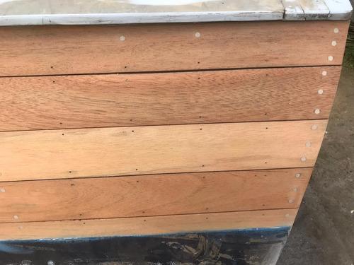 lancha clásica de madera para restaurar - acepto permuta