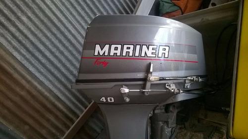 lancha con motor mariner 40 hp. embarcación. deportiva