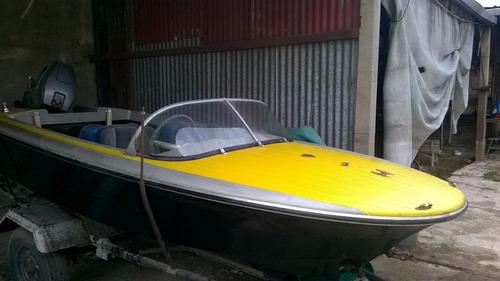 lancha con motor mariner 40 hp. embarcación. deportiva ofert