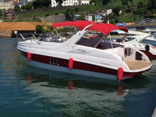 lancha coral 34 full parelha d3 200 hp completissima