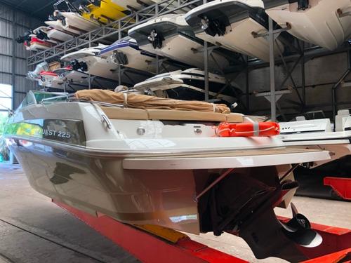 lancha cuddy quest 225 con volvo 270 hp v8 sx año 2014 106hs