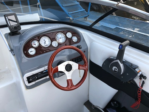 lancha cuddy quicksilver 2002 evinrude 135 hp v6 torre 76hs