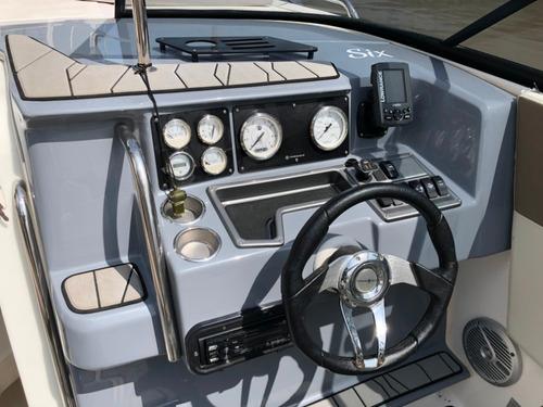 lancha cuddy quicksilver 2500 con evinrude 300 hp 2017 negra