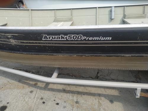 lancha de aluminio 5 motor nissan 18 hp.