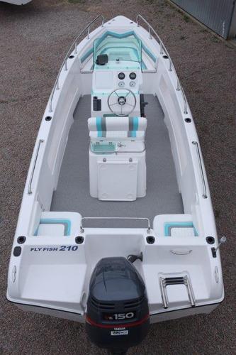 lancha de pesca fly fish 210 mercury 90 hp elpto - promoção