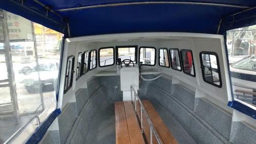 lancha de trabajo media cabina paseos pesca turismo 8.35 mts