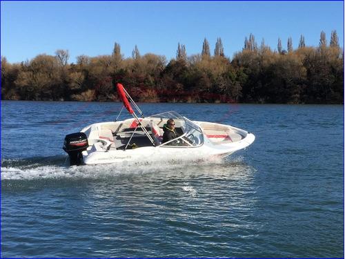 lancha deportiva 470 motor 40 hp 3 cilindros cero hs mercury