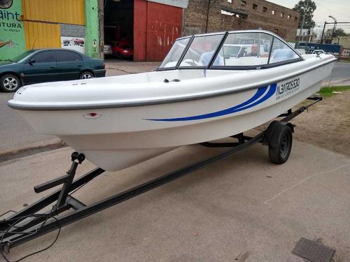 lancha deportiva albatros 530 open con motor yamaha  90hp 4t