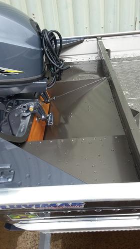 lancha em aluminio 5.5 com motor 40 hp e carreta volpato