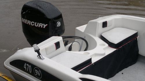 lancha  espectacular con mercury 60 hp 4 tiempos todo okm