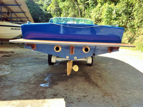 lancha esquiboat max, clássico em madeira 1974, restaurada