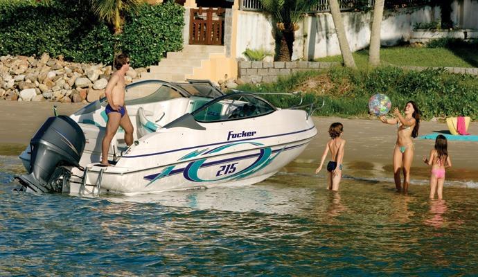 lancha fibrafort focker 215 com motor de popa yamaha 115 4 t