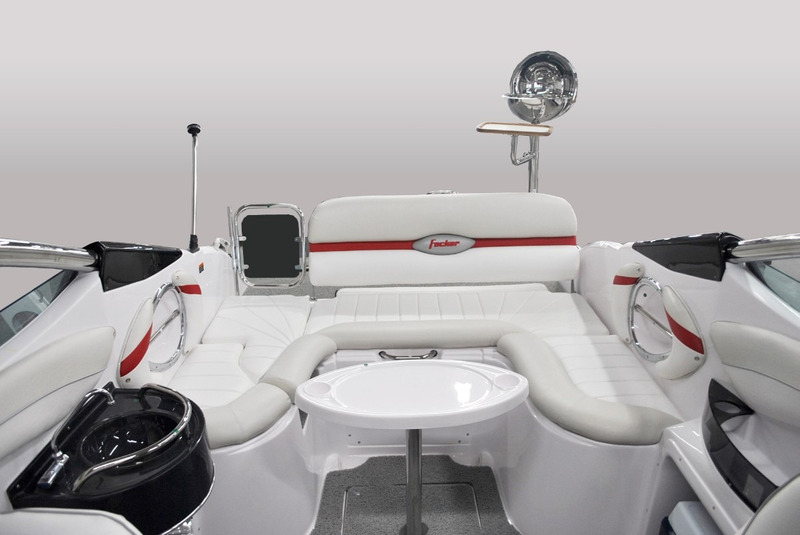 lancha fibrafort focker 230 +motor centro 220 hp mercruiser