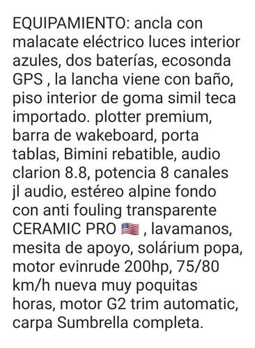 lancha fibrafort focker 240 open evinrude 200 gallino marine