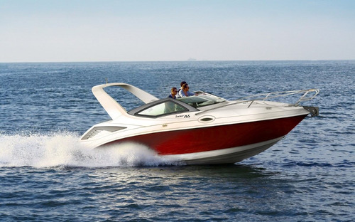 lancha fibrafort focker 265 + centro 200 hp mercury mpi 4.5