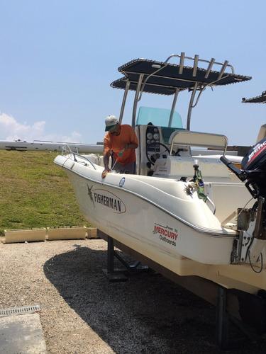 lancha fisherman 238 completa