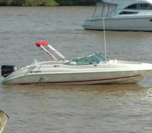 lancha fishing 551 con cerramiento y accesorios