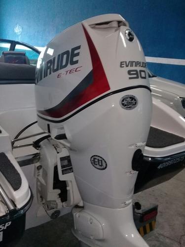 lancha flipper 18 pes motor evinrude  e-tec 90 hp