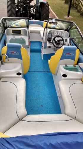 lancha flipper 18.5 com motorização evinrude e-tech 90  2015