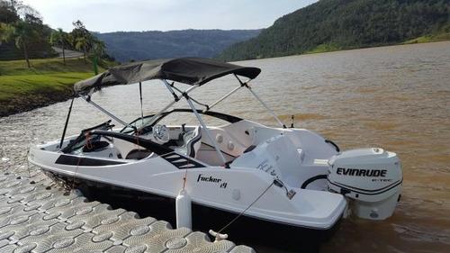 lancha focker 19 pes modelo i 9 okm ( casco ) miami nautica