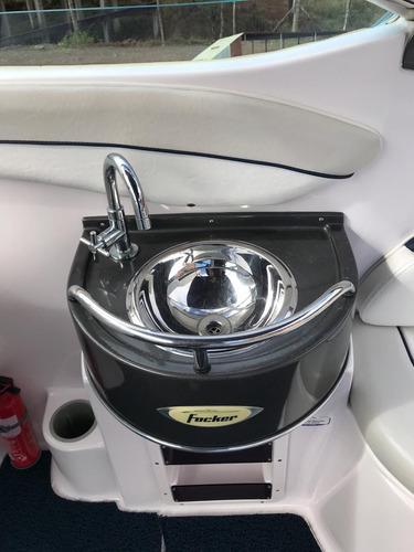 lancha focker 215 com motor 150hp mercury optimax ano 2010