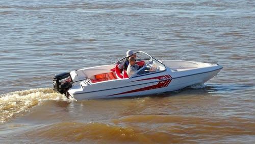 lancha fuel 160 sport + motor mariner 50hp 2t