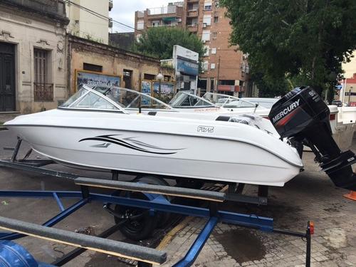 lancha fuell 175 líquido casco 0 km precio sin motor!!!!!!!!