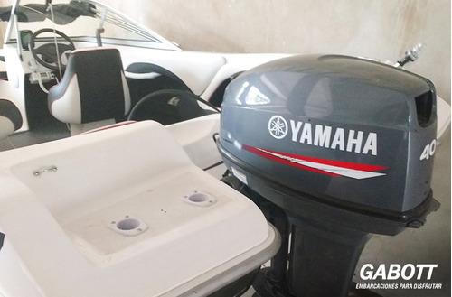 lancha g 490 con motor yamaha 40 hp completa deportiva