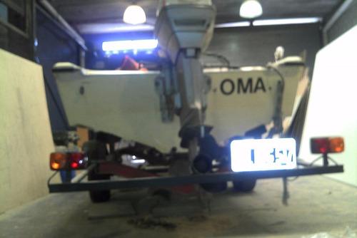 lancha genesis envinrude 60 hp - sin trailer