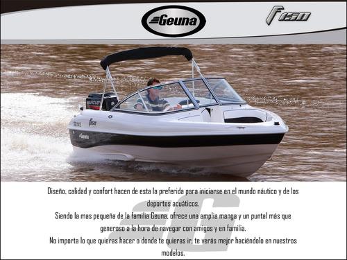 lancha geuna f 150 c/ evinrude 50hp dsl nueva