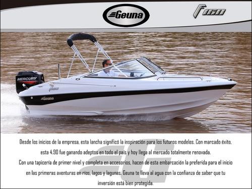 lancha geuna f160 c/mercury 90hp 2 t nueva