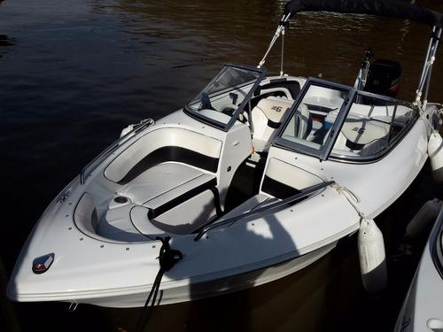 lancha geuna f160 mercury 75 hp muchos accesorios. la mejor