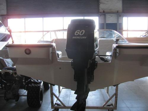 lancha gg 510 open con mercury 60 hp 2t. oportunidad!!!