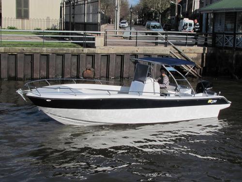 lancha gg730 bote pescador 2017 con motor mercury 115 4t