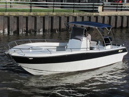 lancha gg730 bote pescador 2018 con motor mercury 115 4t
