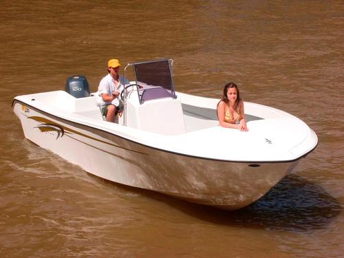 lancha gg730 bote pescador 2019 con motor mercury 115 4t