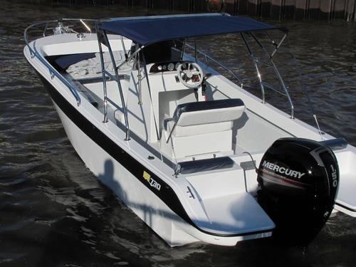 lancha gg730 bote pescador 2020 con motor mercury 115 4t
