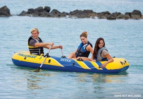 lancha inflable intex challenger 3 bote verano
