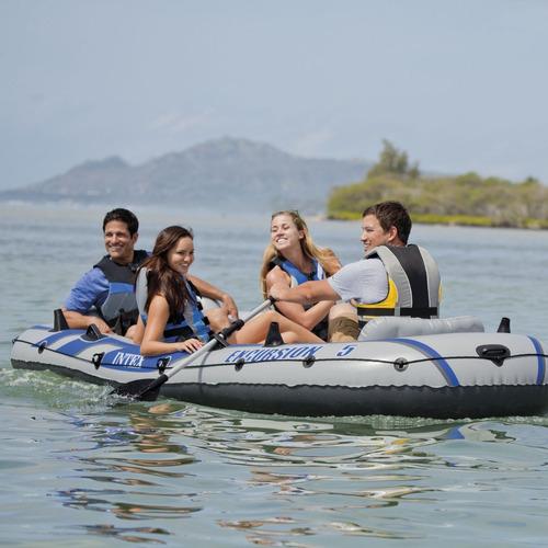 lancha inflable intex excursion 5 balsa mar rio pesca remos