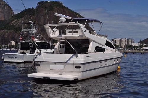 lancha intermarine 440 full com 2 volvos novos