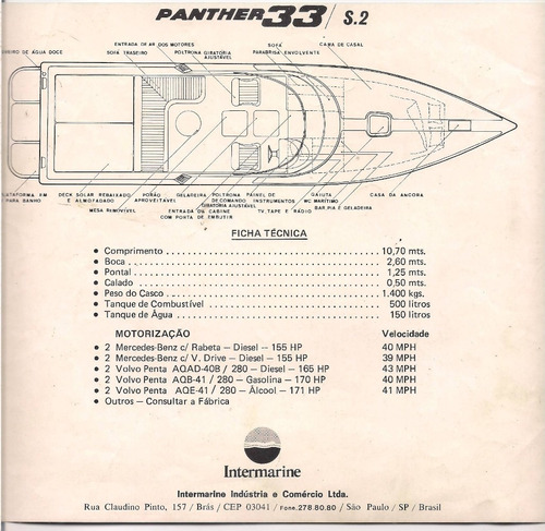 lancha intermarine panther 33