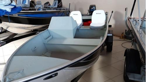lancha karibe cs500 com motor mercury 25hp 2 tempos