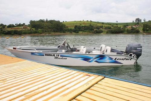lancha levefort marajo 19 machine + suzuki 90 hp 4 tempos
