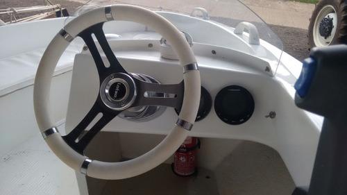 lancha lottus 16pés 'casco magnum' motor com 6horas de uso